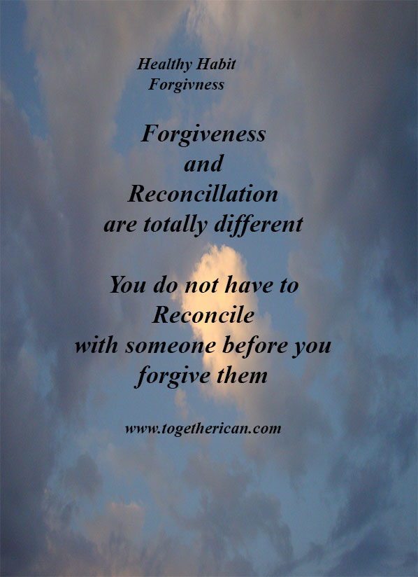 Healthy Habit : Forgiveness